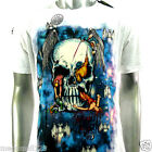 Minute Mirth T-Shirt Sz M L Skull Art Tattoo Dead Punk bmx Rock Graffiti H164