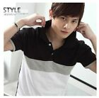 New summer fashion men's men's wear short sleeved T-shirt Polo lapel