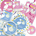 Blue Pink Boy's Girl's Special STORK Baby Shower Party Tableware 1 Listing PS