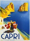 Capri Italy Vintage Travel Poster Reproduction FREE S/H