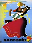 Sorrento Lady Dance Sea Ocean Italy Tourism Travel Vintage Poster repo FREE S/H