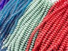 2 Strands Sea Glass 70 beads Heishi Spacer Beads You Pick Color