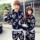 Unisex Stylish Hiphop Printed Korean Casual Sporty Hooded Sweatsuit Tracksuits