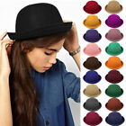 Fashion New Womens Vintage Style Cute Trendy Vogue Wool Bowler Derby Hat Cap