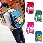 New Fashion 3D Jump Style 2D Drawing From Cartoon Paper Bag Comic Backpack Bag