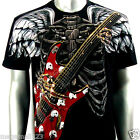 Artful Couture T-Shirt Tattoo Guitar AB10 Sz M L XL XXL Rock Graffiti Punk Biker