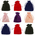 VELVET Jewellery Drawstring Gift Bag Favour Xmas POUCHES - 6 COLOURS, 4 SIZES