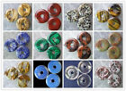 Mixed Gemstone Donut 30x6mm Pendant Bead XLZ5