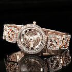WEIQIN Faboulous Crystal MOP Rotating Dial Quartz Lady Wrist Watch + Luxury Box