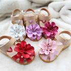 New Baby Girls Sandals Shoes PU Leather Skidproof Summer Cool Toddlers Infant