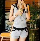 2014 women's fashion strapless sweater casual sports shorts Three-piece suit