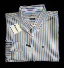 Barbour Calder Stripe Shirt - BNWT New - M & XXL - Blue/Sandstone