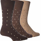 Mens Suit Brown GentleGrip NonElastic Easy Fit HoneyComb Top Diabetic Socks 6-11
