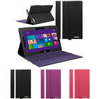 Slim Folio Leather Stand Case with (Keyboard Holder) for Microsoft Surface Pro 2