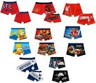 Boys Trunks Character Football Pants Underwear Sizes From 18 Months-10 Years