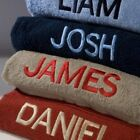 Personalised Bath Towels - Embroidered with Any Name - Various Colours Available