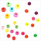 HOT Charms Mixed Colors Round  Wooden Spacer Beads Findings Fit Craft DIY BS