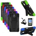 Phone Case For Net10 Huawei H881C Ace Rugged Cover Stand Car Charger Film 3in1