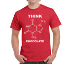 Mens Funny Think Chocolate T-shirt On Gildan Ultra Cotton tShirt-6 Colours-2