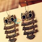Fashion Exquisite Chic Retro Style Cute Animal Owl Dangle Ear Hook Earrings SSCA