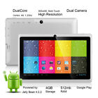 "7"" Android 4.2 A23 Tablet PC Dual Core Dual Camera MID WiFi  Google Play Store"