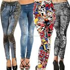 Fashion Women Denim Jeans Sexy Skinny Leggings Jeggings Tights Pants Trousers B2