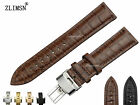 14mm 16mm New Black or Brown Bamboo pattern Genuine Leather Watch Bands Straps