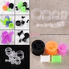 HARD ACRYLIC & FLEXIBLE SILICONE FLESH TUNNEL EAR EXPANDER STRETCHER PLUGS