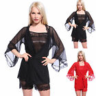 Silky Translucent Satin Camisole cami French Knickers & Lace Robe sleepwear set