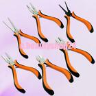 INSULATED JEWELRY MAKING BEADING BENT LONG NEEDLE FLAT NOSE PLIERS WIRE CUTTER