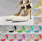 Ladies Fashion Sexy High Heels Ankle Strap Sandals Womens Wedding Dress shoes