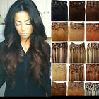 "Fashion 15""18""20""22""24""26""28"" 100% Remy Real Clip In Human Hair Extentions"