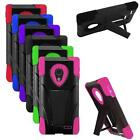 Phone Case For LG Lucid 3 Hybrid Silicone Corner Hard Cover Stand VS876