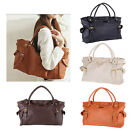 New Fashion Lady OL PU Leather Big Capacity Tote Handbag Shoulder Bag Tote Purse