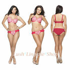 Curvy Kate Eden Underwired Balcony Bra Rose Pink Print NEW Sizes 30 - 40 D to K