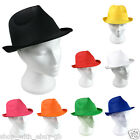Pack of 10 Unisex Sun Hat - FEDORA PANAMA TRILBY STRAW style - Gangster Hen Stag