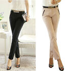 Women Long Pants Casual OL Slim Skinny Trousers OL Pencil Office Business Pants