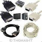 SVGA/VGA Male PC Monitor TV LCD TFT Projector Cable 1.5m 2m 2.5 3m 20m 30m UK