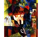 """AUGUST MACKE """"A Market In Tunis""""Traditional Print NEW various SIZES, BRAND NEW"""