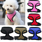 NEW Soft Mesh Padded Puppy Pet Dog Harness Black Pink Red Blue Brown S/M/L/XL