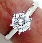 D/VVS1 Gold Diamond Engagement Ring 1.25 ct Round Cut 14K Solid White Gold Band