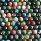 """16""""  Gemstone Faceted Indian Agate / Fancy Jasper Round Beads  4mm - 10mm"""