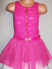 GIRLS CERISE PINK LACE TULLE BALLERINA TUTU PARTY DRESS with BELT