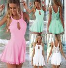 Trendy Sexy Womens Romper Bodycon Lace Sleeveless Clubwear Dresses Jumpsuits -Z