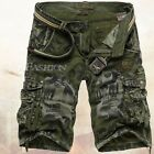 Mens Casual Army military Cargo Combat Camo Cotton Shorts Leisure Pants 3 Color