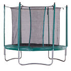 iBounce Trampoline with Safety Enclosure and Toolkit - Green - 6-14ft Sizes