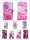 Stylish Flower PU Leather Magnet Flip Wallet Case Cover Stand For Mobile Phones