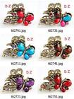 t627m01 Women Crystal butterfly crab Hair Crab clamp crab claws Clip hairpin