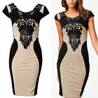 Sexy Women Short Sleeve Slim Pencil Dress Bodycon Party Cocktail Evening Dress