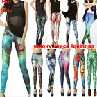 Hot Graphic Printed Galaxy Tetris Stars Leggings Yoga GYM Shinny Pants Trousers